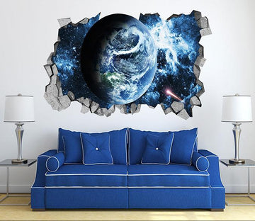 3D Space Earth 46 Broken Wall Murals Wallpaper AJ Wallpaper