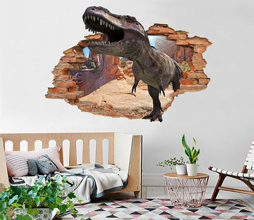 3D Big Dinosaur 182 Broken Wall Murals Wallpaper AJ Wallpaper