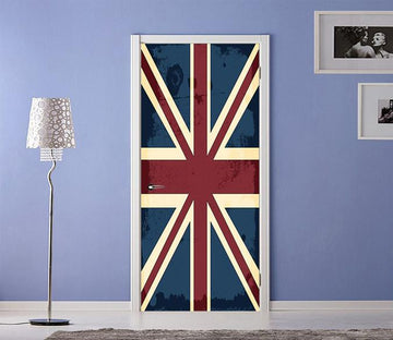 3D British Flag 50 Door Mural Wallpaper AJ Wallpaper