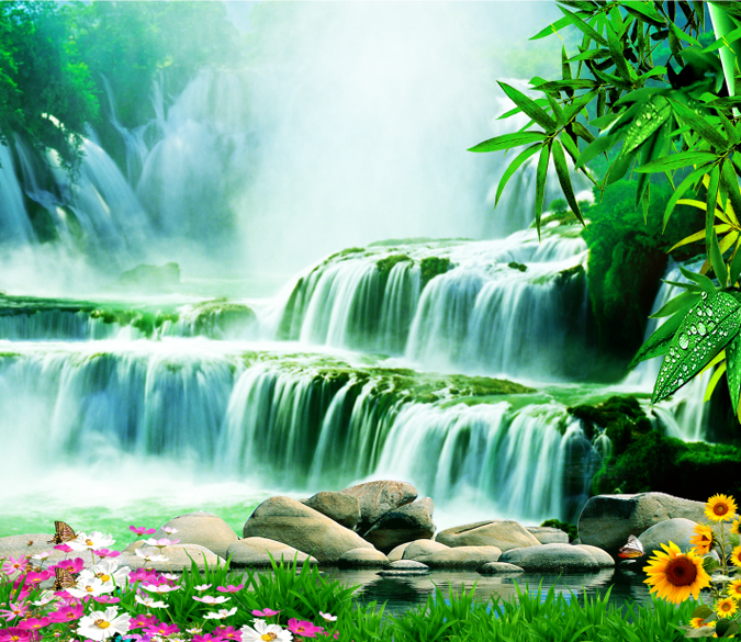 Waterfall Landscape Wallpaper AJ Wallpaper