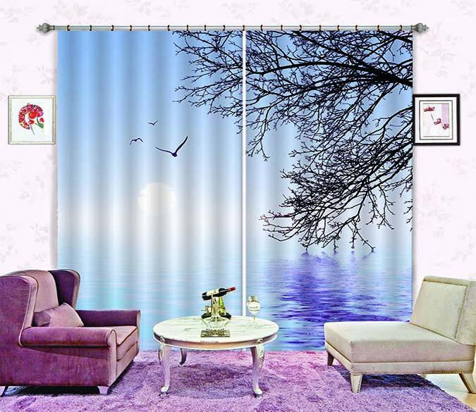 3D Sea Hanging Branches 753 Curtains Drapes Wallpaper AJ Wallpaper