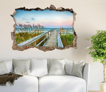 3D Seaside Weeds 331 Broken Wall Murals Wallpaper AJ Wallpaper