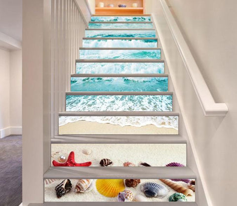 3D Beach Treasures 60 Stair Risers Wallpaper AJ Wallpaper