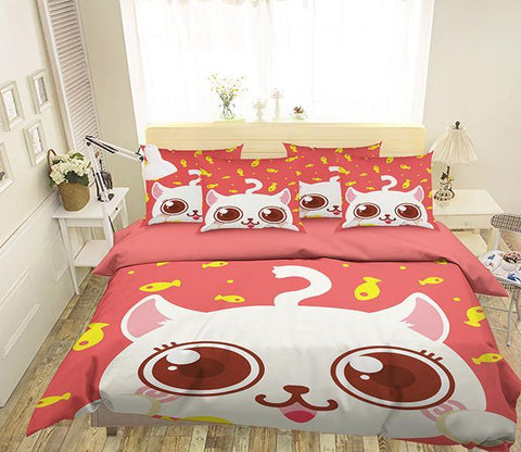 3D Cartoon Animal 321 Bed Pillowcases Quilt Wallpaper AJ Wallpaper