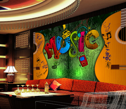3D Guitar Music 165 Wallpaper AJ Wallpaper