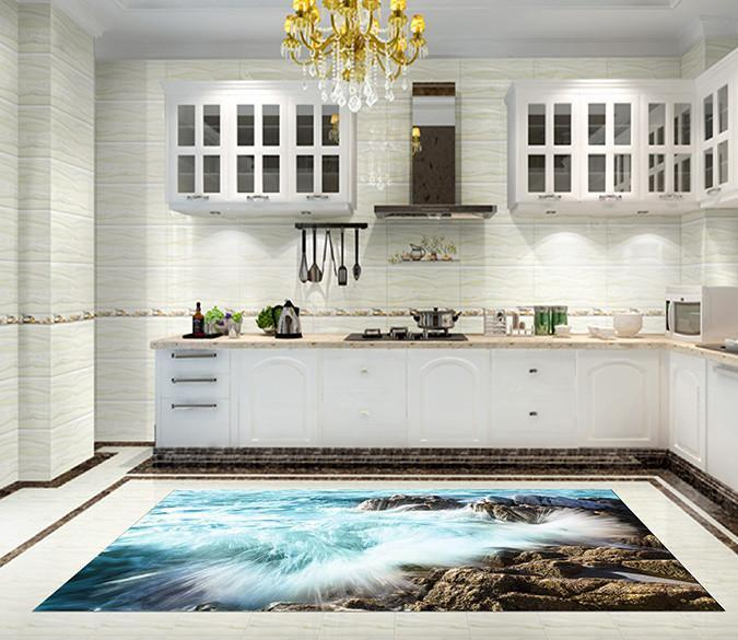 3D Coast Waves 026 Kitchen Mat Floor Mural Wallpaper AJ Wallpaper