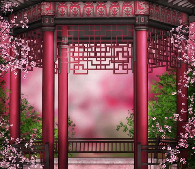 Beautiful Flowers Pavilion Wallpaper AJ Wallpaper