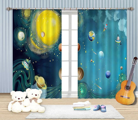 3D Space Scenery 2305 Curtains Drapes Wallpaper AJ Wallpaper