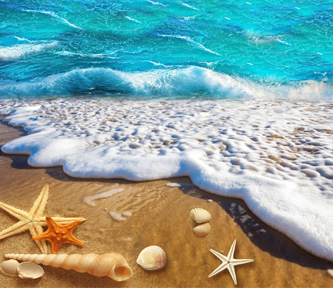 3D Beach Beautiful Bubble Floor Mural Wallpaper AJ Wallpaper 2