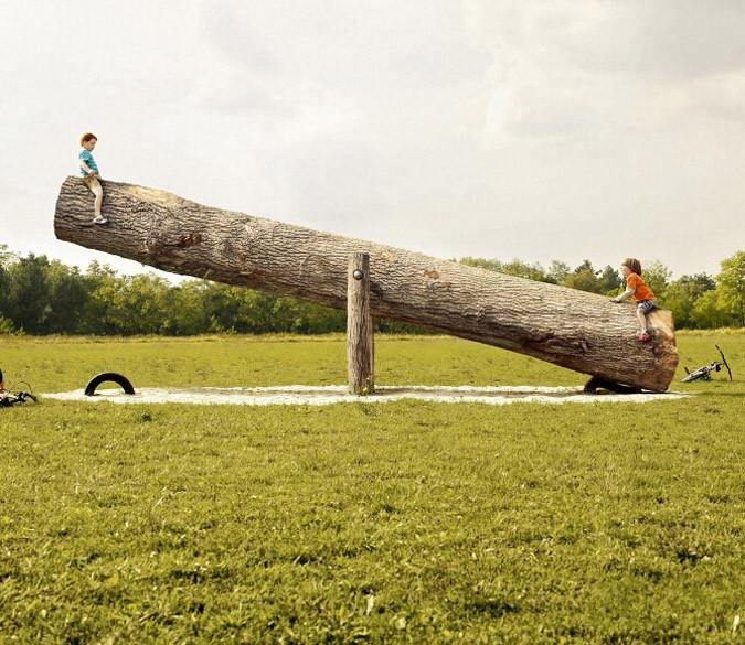 Lawn Seesaw Wallpaper AJ Wallpaper