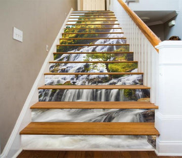 3D Flowing Waterfall 1336 Stair Risers Wallpaper AJ Wallpaper