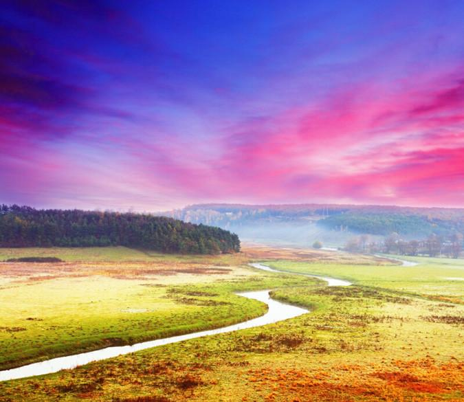 Winding River Plains Wallpaper AJ Wallpaper