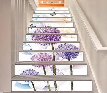 3D Flowers Butterflies 1539 Stair Risers Wallpaper AJ Wallpaper