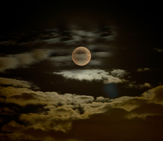 Cloudy Full Moon Wallpaper AJ Wallpaper