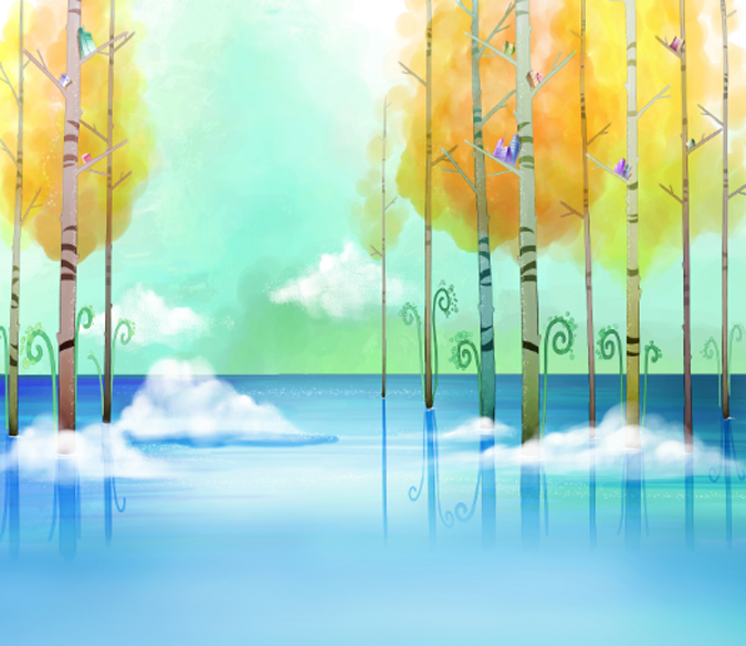 Water Trees Wallpaper AJ Wallpaper