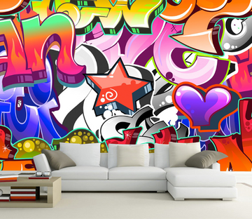 Romantic Graffiti Wallpaper AJ Wallpaper