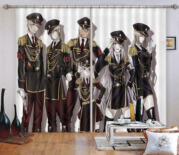 3D Uniformed Youth 2412 Curtains Drapes Wallpaper AJ Wallpaper