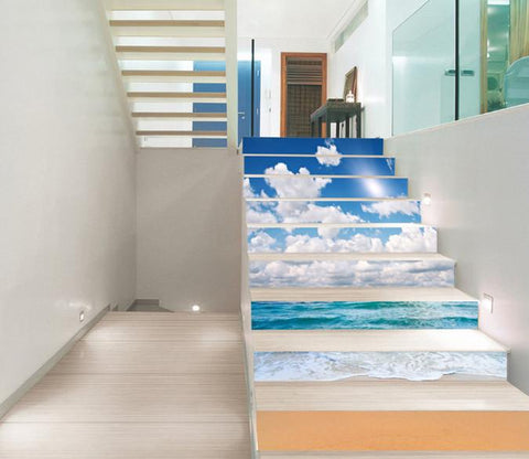 3D Beach Nature Scenery 212 Stair Risers Wallpaper AJ Wallpaper