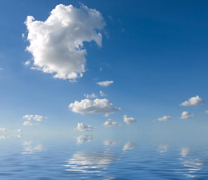 Blue Ocean White Clouds 1 Wallpaper AJ Wallpaper