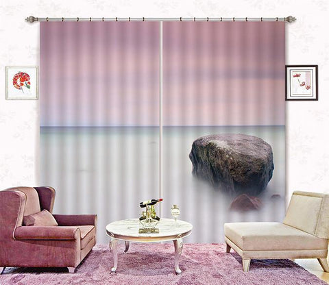 3D Boundless Misty Sea 341 Curtains Drapes Wallpaper AJ Wallpaper