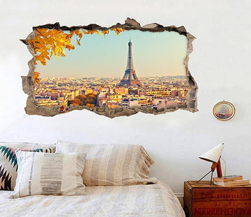 3D Paris Scenery 342 Broken Wall Murals Wallpaper AJ Wallpaper