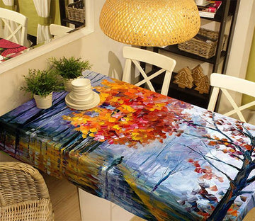 3D Oil Painting Trees 1 Tablecloths Wallpaper AJ Wallpaper