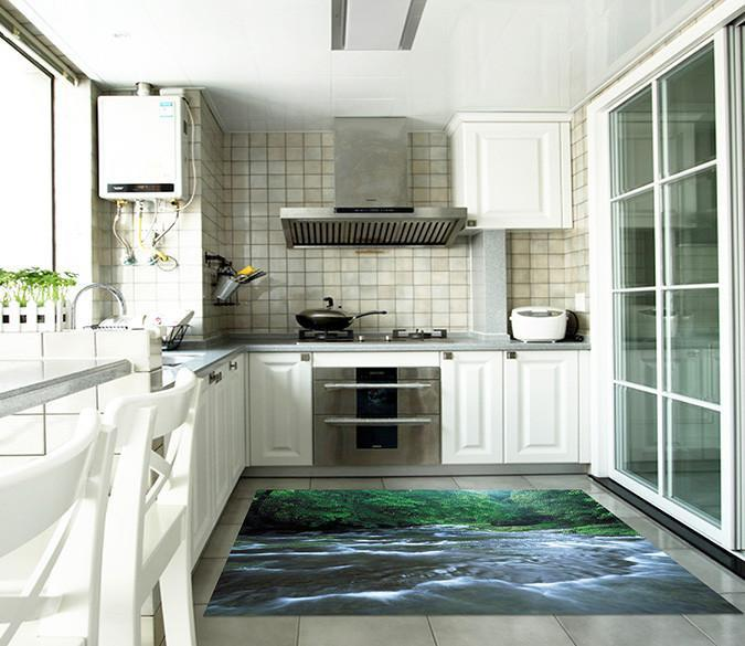 3D Beautiful River 578 Kitchen Mat Floor Mural Wallpaper AJ Wallpaper