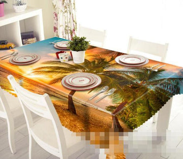 3D Beach Sunset 1223 Tablecloths Wallpaper AJ Wallpaper