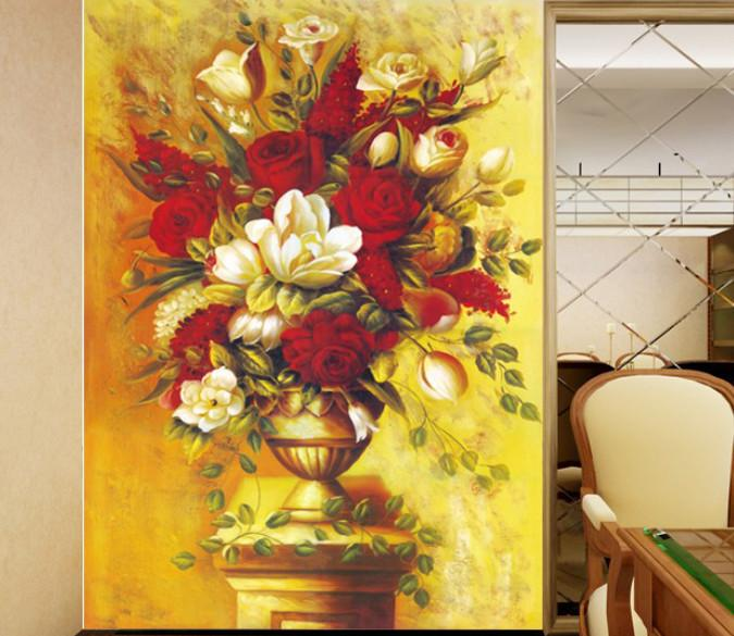 Flowers Painting Wallpaper AJ Wallpaper