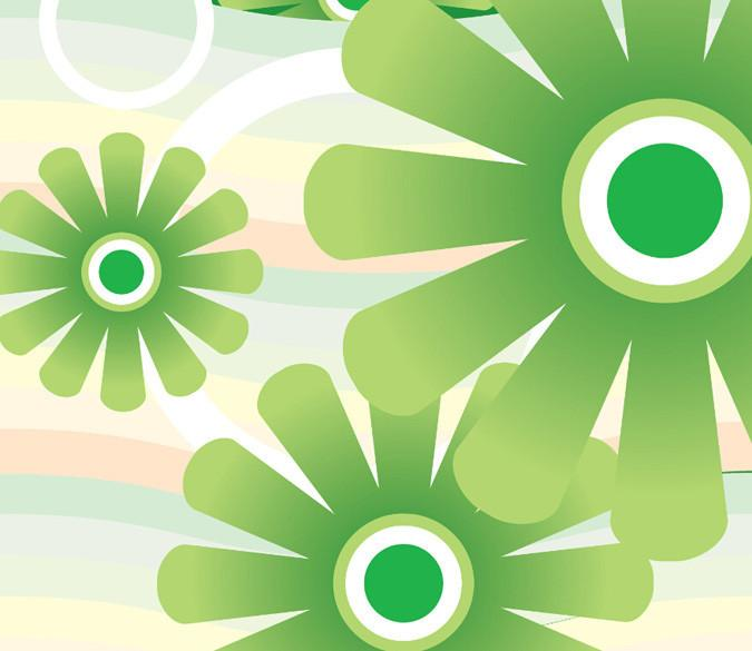 Green Flowers Wallpaper AJ Wallpaper