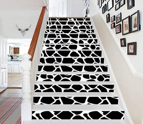 3D Black Spots 1145 Stair Risers Wallpaper AJ Wallpaper