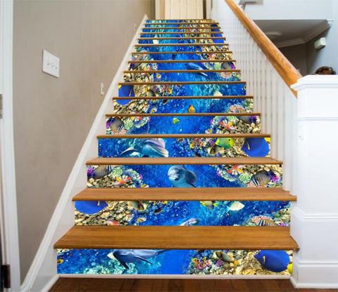 3D Wonderful Ocean World 771 Stair Risers Wallpaper AJ Wallpaper