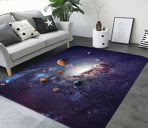 3D Space Planets 87 Non Slip Rug Mat