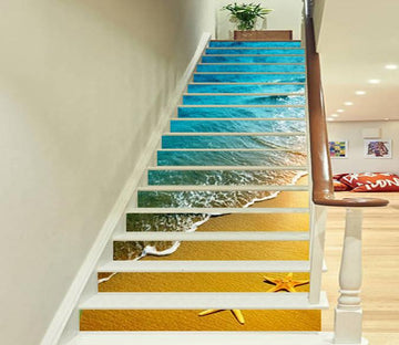 3D Beautiful Beach 797 Stair Risers Wallpaper AJ Wallpaper