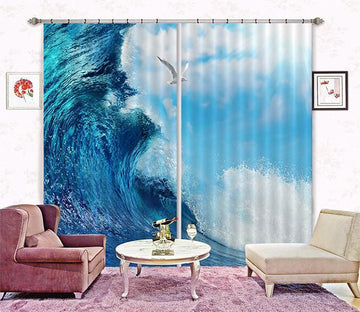 3D Sea Huge Wave 172 Curtains Drapes Wallpaper AJ Wallpaper