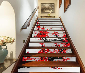 3D Plum Flowers 761 Stair Risers Wallpaper AJ Wallpaper