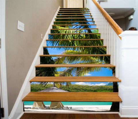 3D Beach Scenery 513 Stair Risers Wallpaper AJ Wallpaper