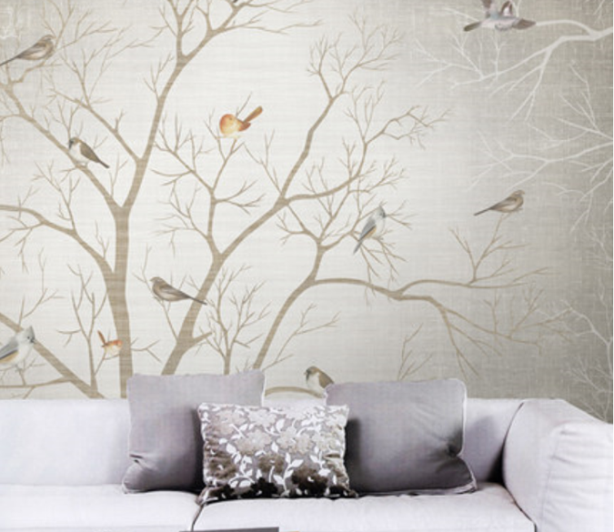 Birds On Bare Tree Wallpaper AJ Wallpaper