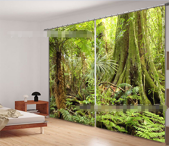 3D Thick Forest Trees 933 Curtains Drapes Wallpaper AJ Wallpaper