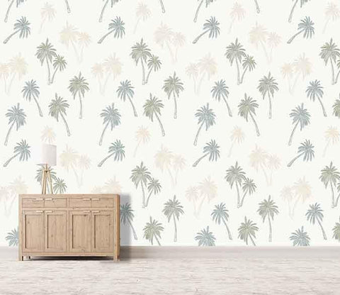 3D Coconut Trees Pattern 041