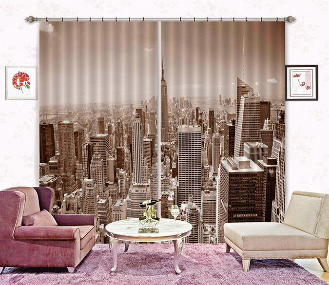 3D New York 2276 Curtains Drapes Wallpaper AJ Wallpaper