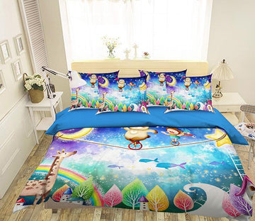 3D Acrobatics Dreamland 334 Bed Pillowcases Quilt Wallpaper AJ Wallpaper