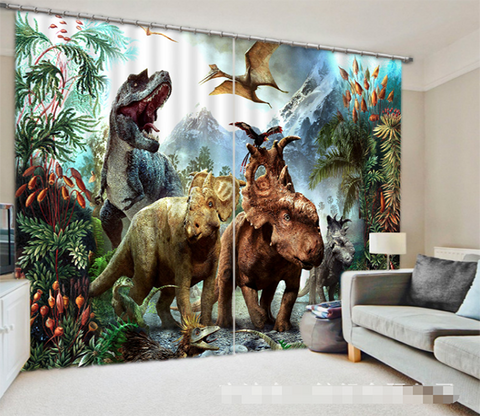 3D Dinosaurs 1318 Curtains Drapes