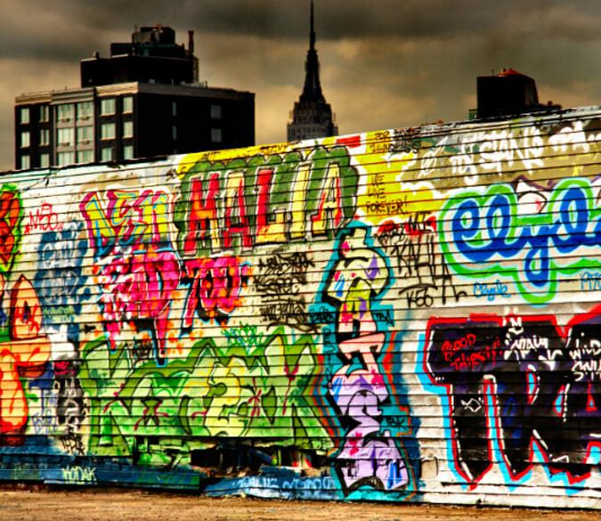 Graffiti Wall Wallpaper AJ Wallpaper