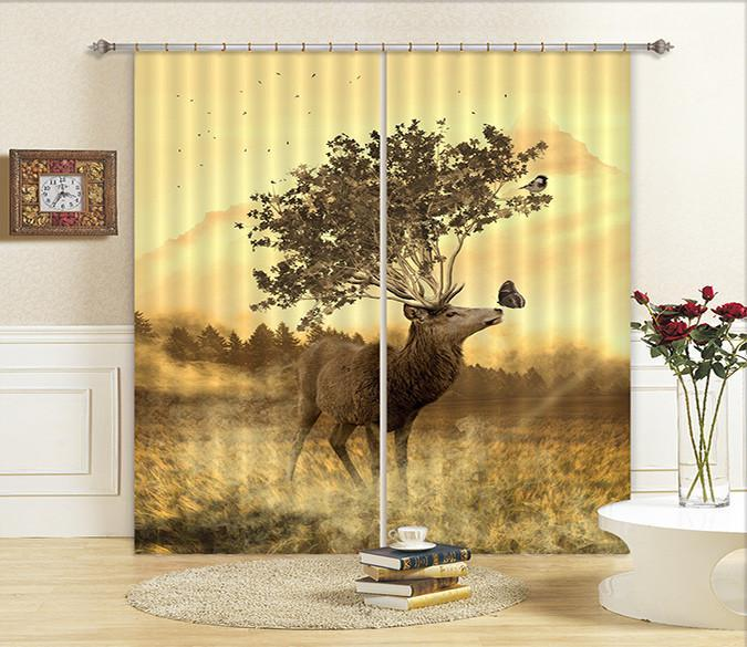 3D Pretty Animal 53 Curtains Drapes Wallpaper AJ Wallpaper
