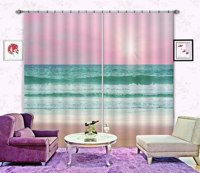3D Vast Sea 720 Curtains Drapes Wallpaper AJ Wallpaper