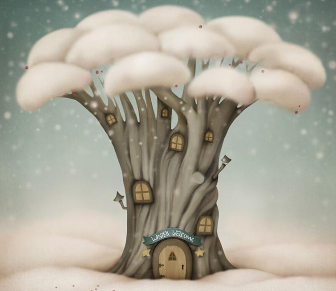 Mushroom Houses 4 Wallpaper AJ Wallpaper