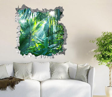3D Tropical Rainforest 205 Broken Wall Murals Wallpaper AJ Wallpaper