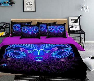 3D Aries 304 Bed Pillowcases Quilt Wallpaper AJ Wallpaper