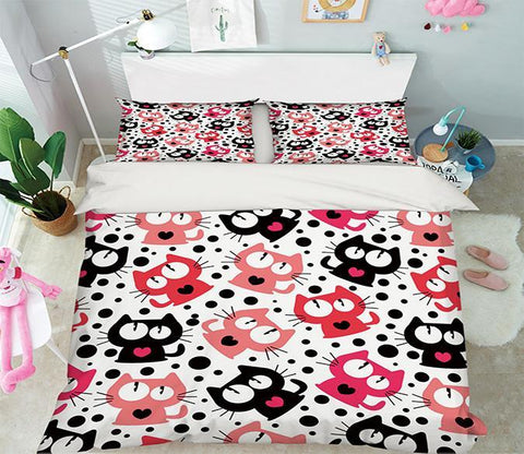 3D Cats Dots Pattern 324 Bed Pillowcases Quilt Wallpaper AJ Wallpaper